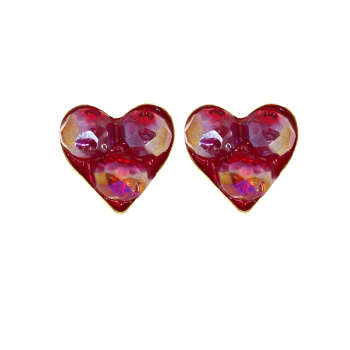 گوشواره زنانه طرح قلب کد GO01