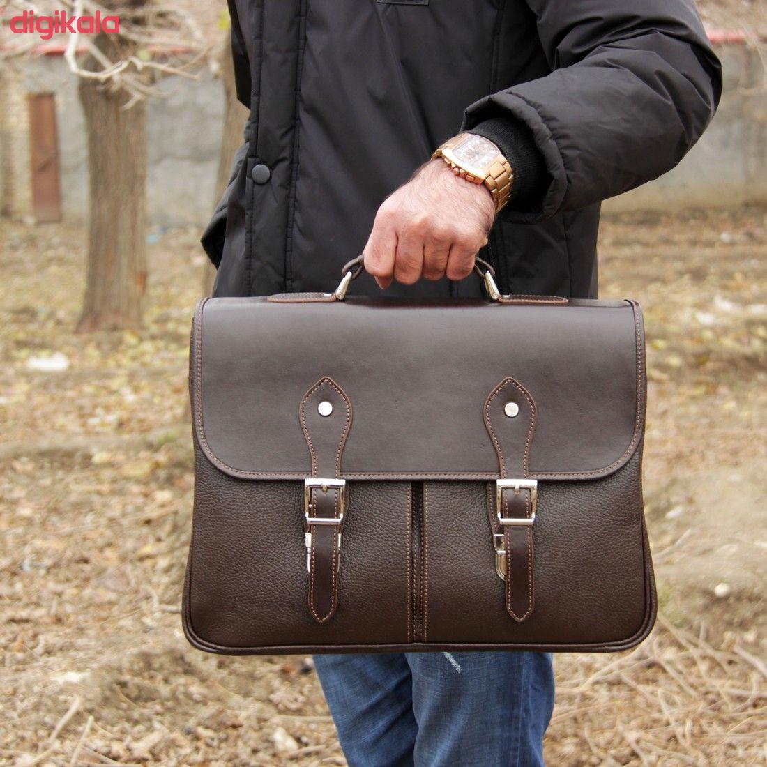 کیف اداری مردانه چرم بیسراک مدل مارال کد Ed-502 main 1 21