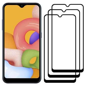 محافظ صفحه نمایش مدل FCG مناسب برای گوشی موبایل سامسونگ Galaxy A01 بسته سه عددی
