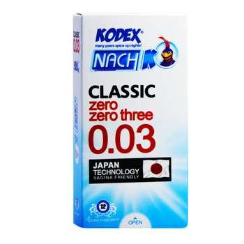 کاندوم ناچ کدکس مدل Classic 0.03 بسته 12 عددی