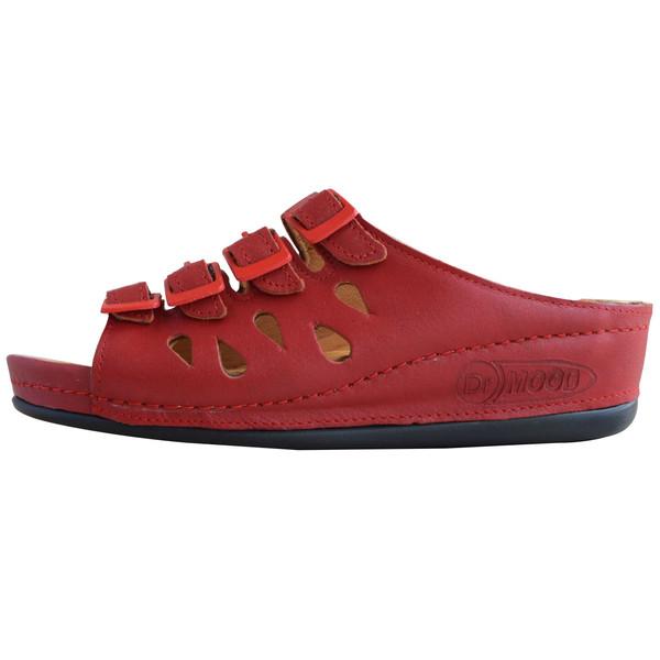 دمپایی زنانه کفش آداک مدل  دکتر مود کد 104 رنگ قرمز