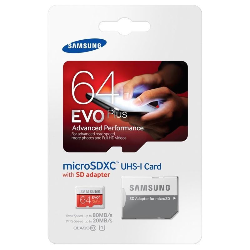 کارت حافظه microSDXC  مدل Evo Plus کلاس 10 استاندارد UHS-I U3 سرعت 100MBps ظرفیت 64 گیگابایت به همراه آداپتور SD                     غیر اصل