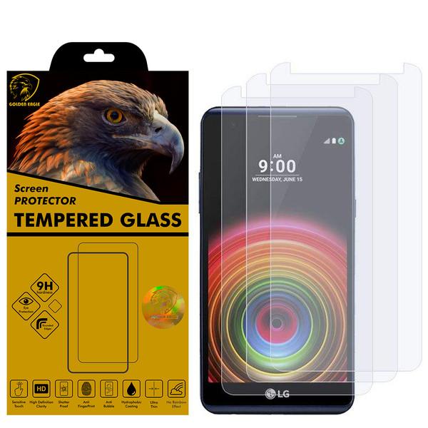 محافظ صفحه نمایش گلدن ایگل مدل GLC-X3 مناسب برای گوشی موبایل ال جی X Power بسته سه عددی