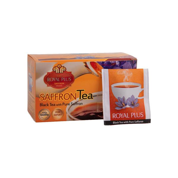 چای زعفرانی رویال پلاس بسته 20 عددی
