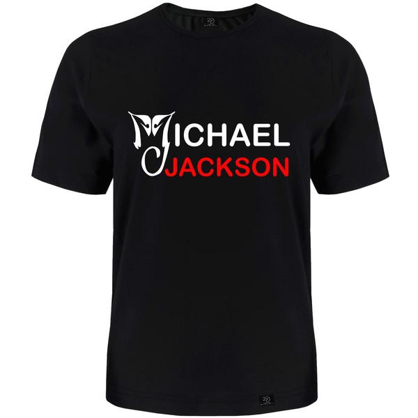 تیشرت آستین کوتاه مردانه 27 مدل مایکل جکسون کد H11 رنگ مشکی