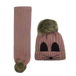 ست کلاه و شال گردنبافتنیبچگانه کد 4570