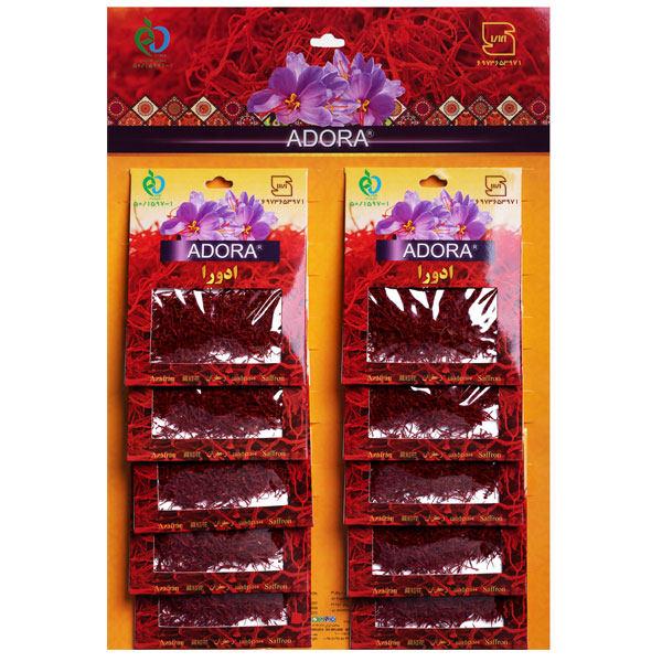 زعفران ادورا سرگل - 4.608 گرم بسته 10 عددی