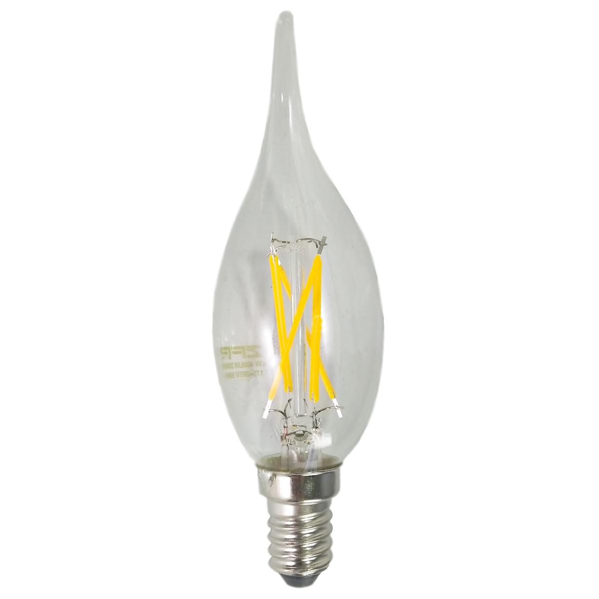 لامپ فیلامنت 4 وات زد اف آر مدل شمعی پایه E14
