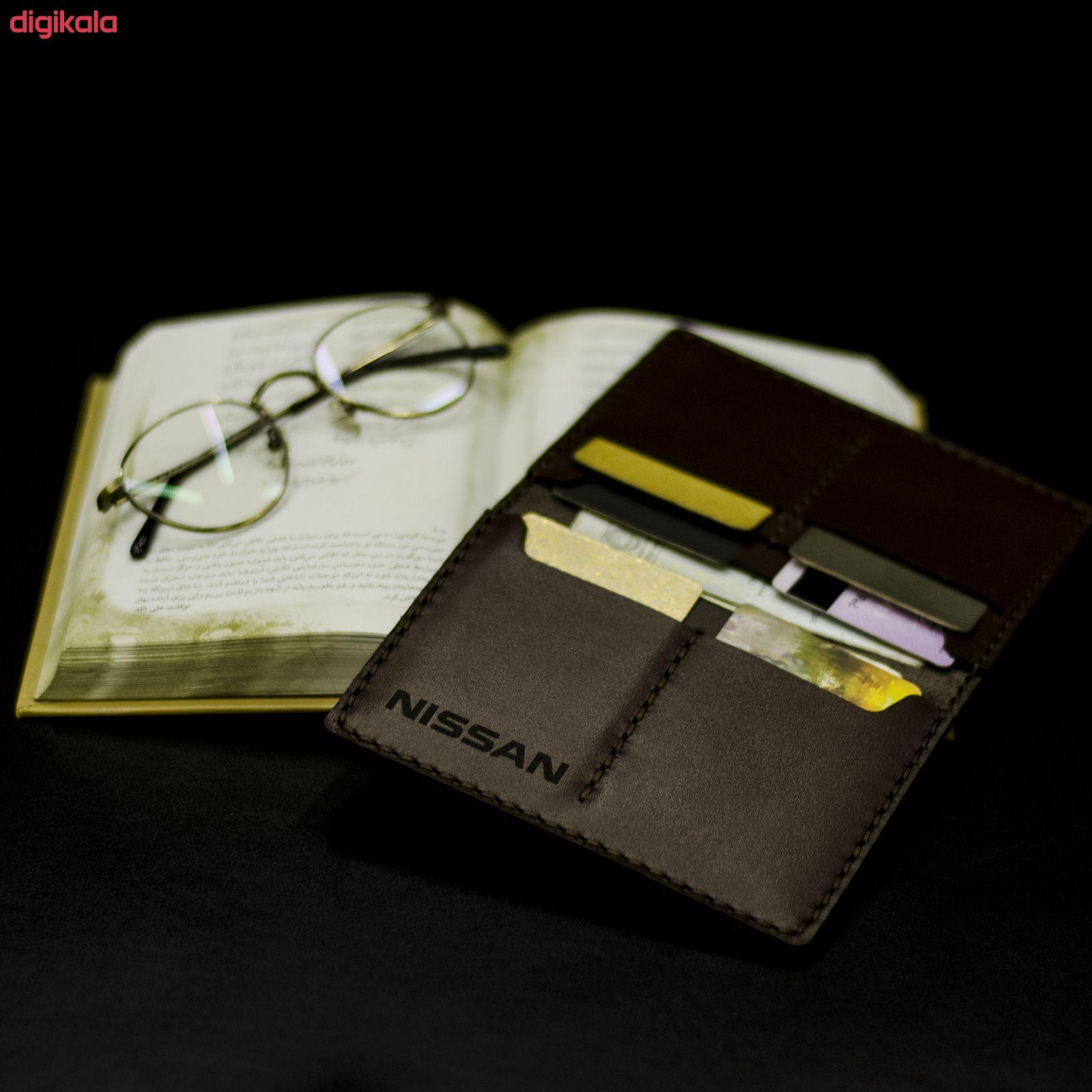 کیف مدارک مردانه چرمینه اسپرت طرح نیسان کد 43024-B main 1 5