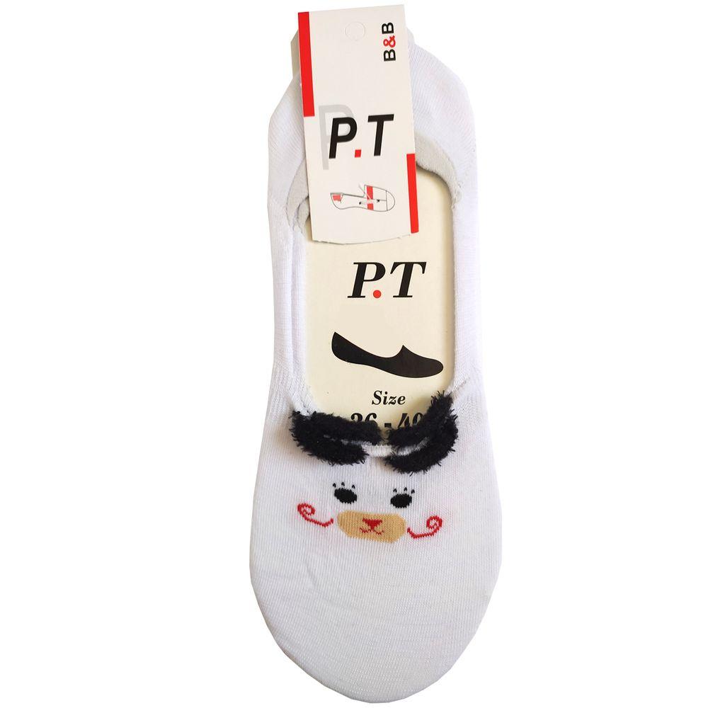جوراب زنانه پی.تی طرح گربه کد J019