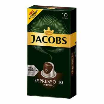 کپسول قهوه اسپرسو اینتنسو جاکوبز بسته 10 عددی