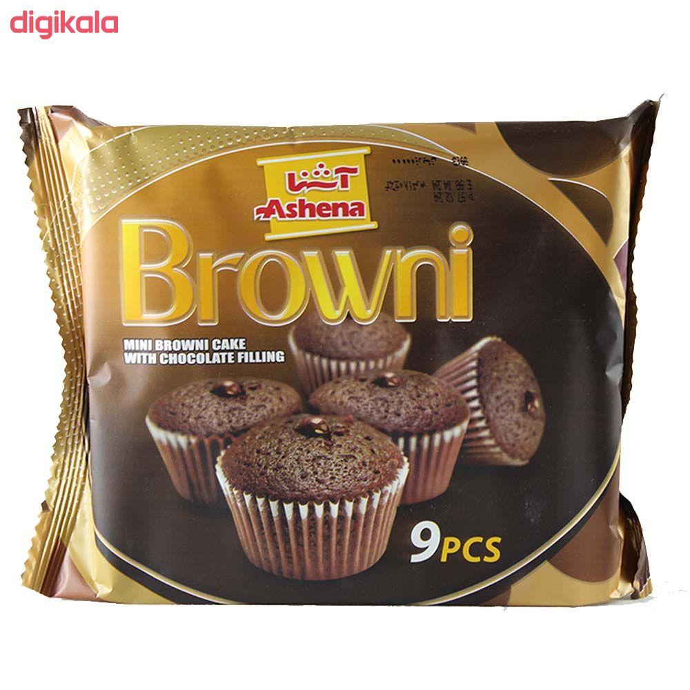 کیک مینی براونی با مغزی شکلاتی آشنا بسته 9 عددی main 1 1