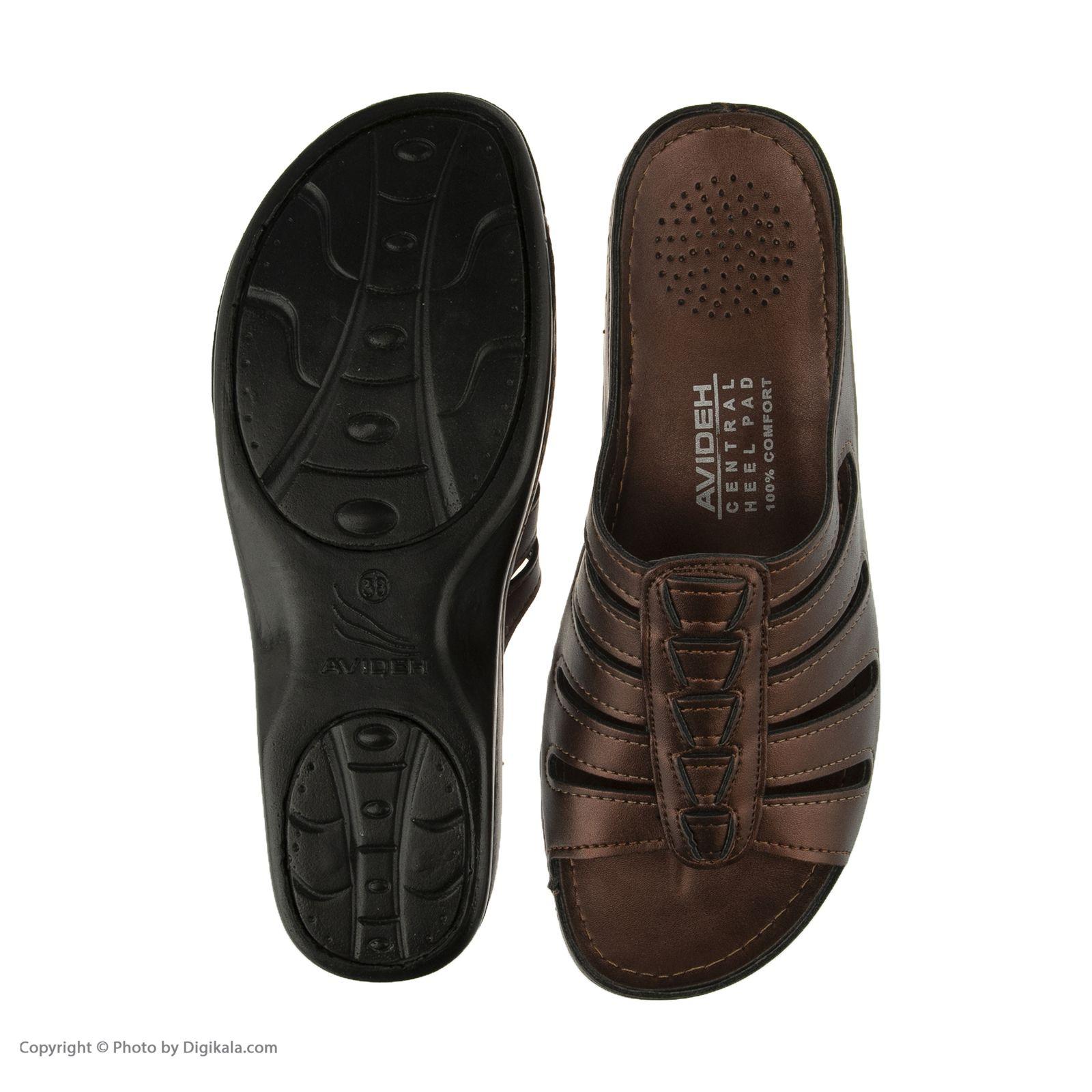 دمپایی زنانه کفش آویده کد av-0304212 رنگ مسی -  - 3