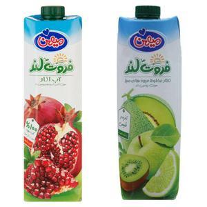 نکتار انار و مخلوط میوه های سبز ميهن - 1 ليتر بسته 2 عددي