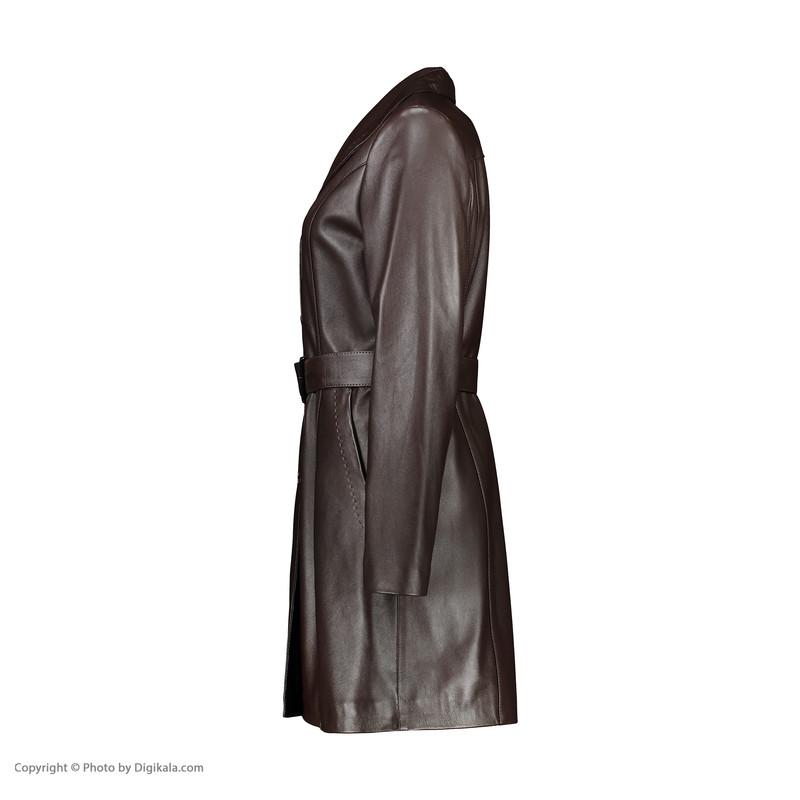 کت چرم زنانه چرم مشهد مدل B0454-091