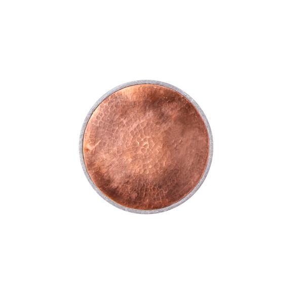 تخته سرو آرانیک گرد سنگی تزئین با مس رنگ خاکستری طرح ساده مدل 1009600009