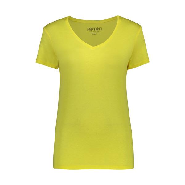 تی شرت زنانه کوتون مدل 0YAK13640OK-Yellow