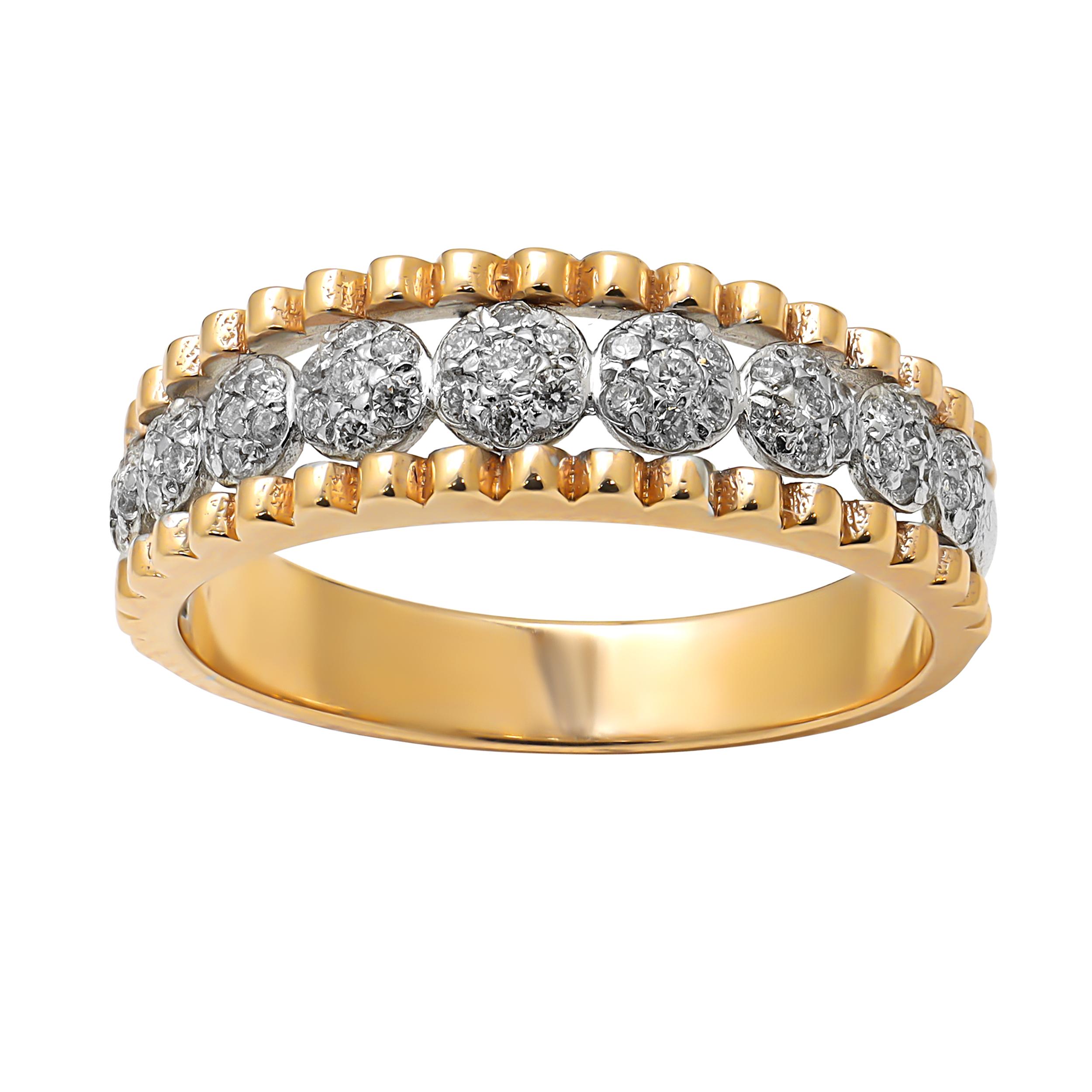 انگشتر طلا 18 عيار زنانه مدل R2075