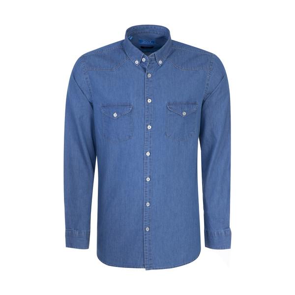 پیراهن مردانه سولا مدل SM420140033-DENIM