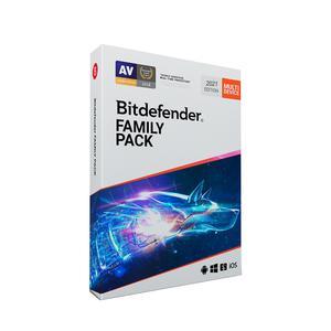آنتی ویروس بیت دیفندرFamily Pack پانزده کاربر ۱۲ ماهه