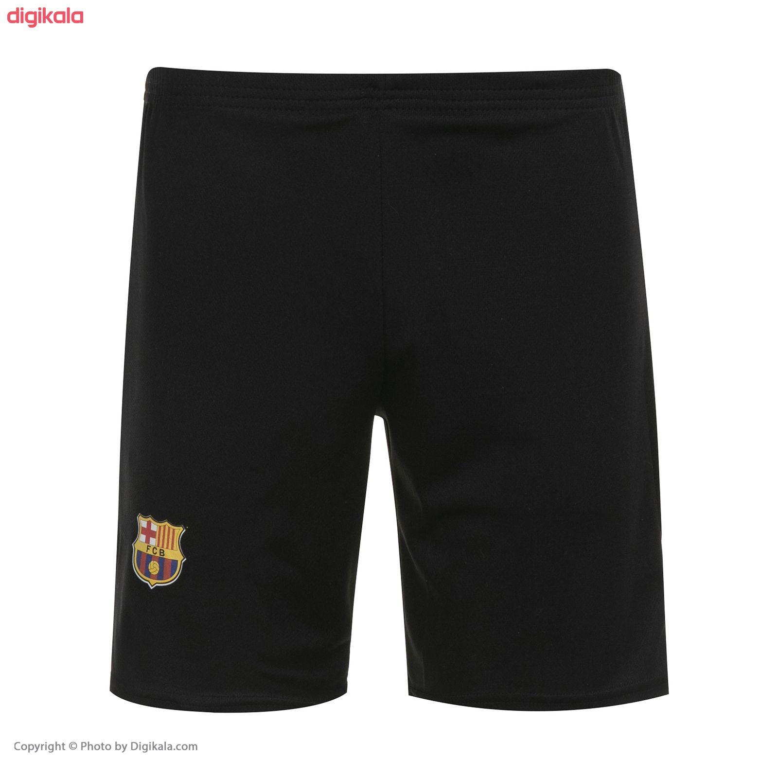 ست پیراهن و شورت ورزشی پسرانه طرح تیم بارسلونا دوم مدل مسی 2021 main 1 4