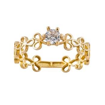 انگشتر طلا 18 عیار زنانه جواهری سون مدل 2727