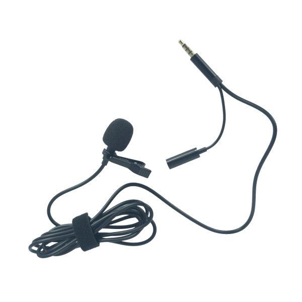 میکروفون یقه ای مدل جک 3.5 mm همراه با خروجی صدا