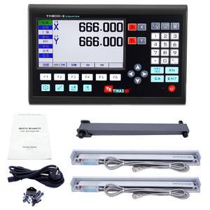 خط کش دستگاه تراش مدل dro-1000 مجموعه 2 عددی همراه نمایشگر دیجیتال