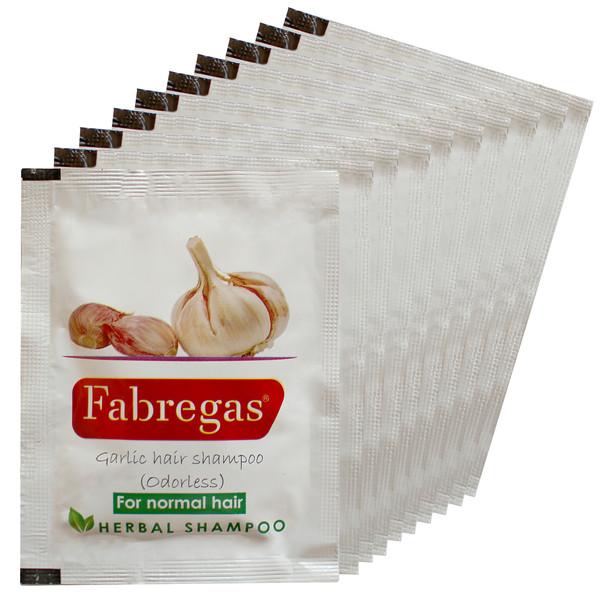 شامپو مو فابریگاس مدل سیر حجم 10 میلی لیتر بسته 10 عددی