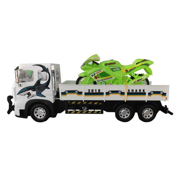 ماشین بازی مدل کامیون حمل موتور کد m5 مجموعه 2 عددی