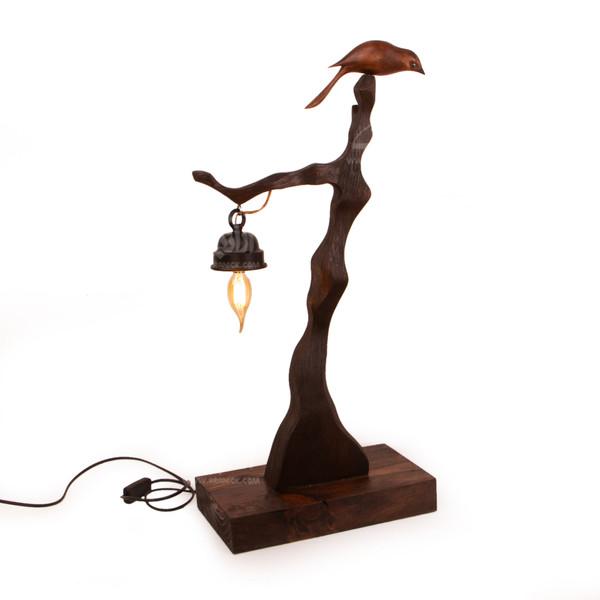 آباژور چوبی آرانیک قهوه ای طرح درخت پاییزی مدل 2217200001
