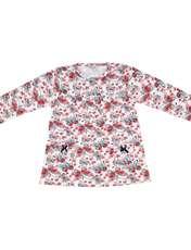ست تی شرت و شلوار دخترانه طرح پروانه کد 3072 رنگ سفید -  - 4