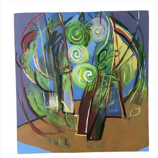 تابلو نقاشی اکریلیک مدل پیچک کد ART-S02