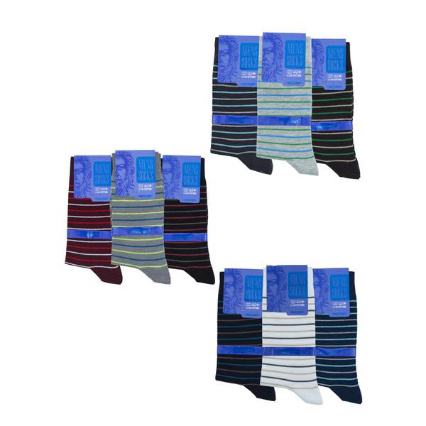 جوراب مردانه راکون مدل 102307 مجموعه 9 عددی
