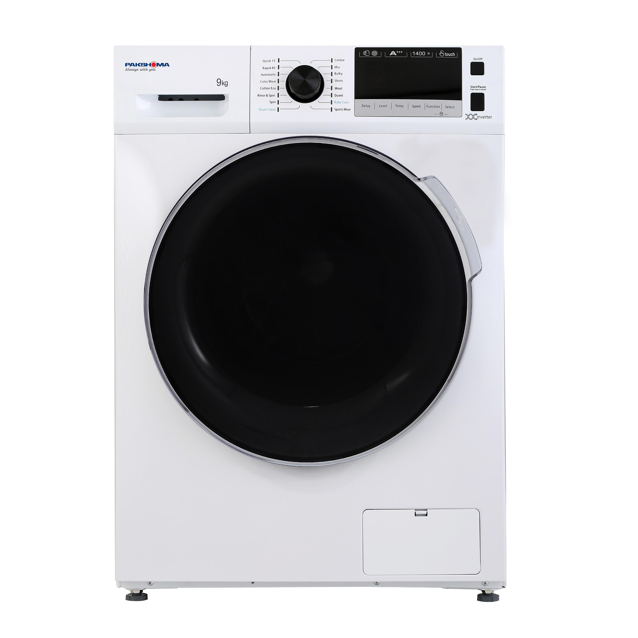 ماشین لباسشویی پاکشوما مدل TFI 94402 ظرفیت 9 کیلوگرم
