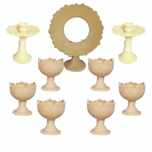 مجموعه ظروف هفت سین 9 پارچه مدل لبچین کد HLG9