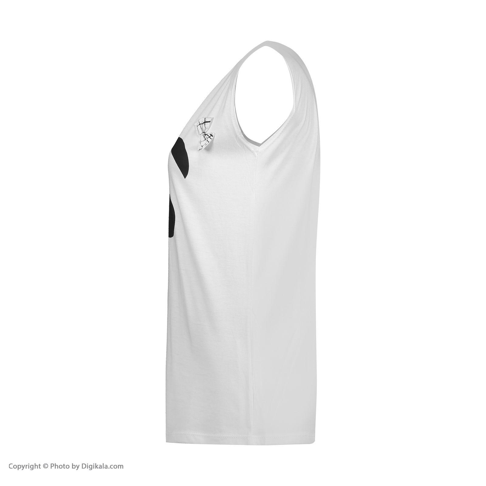 ست تاپ و شلوارک زنانه فمیلی ور طرح پاندا کد 0220 رنگ سفید -  - 9