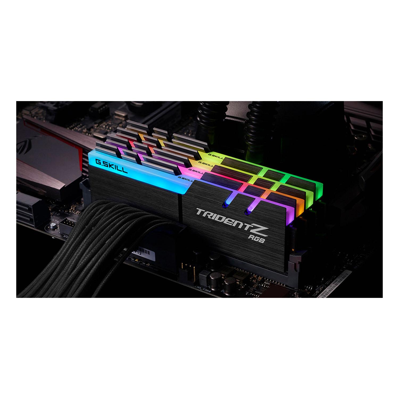 رم دسکتاپ DDR4 چهار کاناله 4000 مگاهرتز CL18 جی اسکیل مدل TRIDENTZ RGB ظرفیت 32 گیگابایت