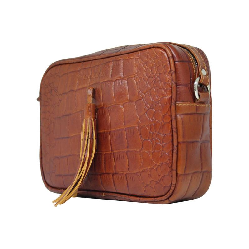 کیف دوشی زنانه چرم آرا مدل d073