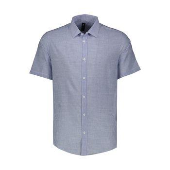 پیراهن آستین کوتاه مردانه ان سی نو مدل لان رنگ آبی