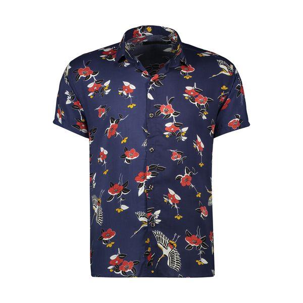 پیراهن آستین کوتاه مردانه مدل هاوایی کد H-108