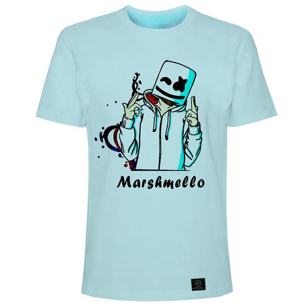 تیشرت آستین کوتاه مردانه 27 مدل مارشملو کد H01 رنگ آبی