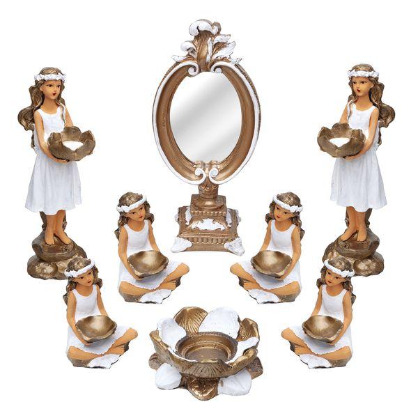مجموعه ظروف هفت سین 8 پارچه مدل فرشته کد 110