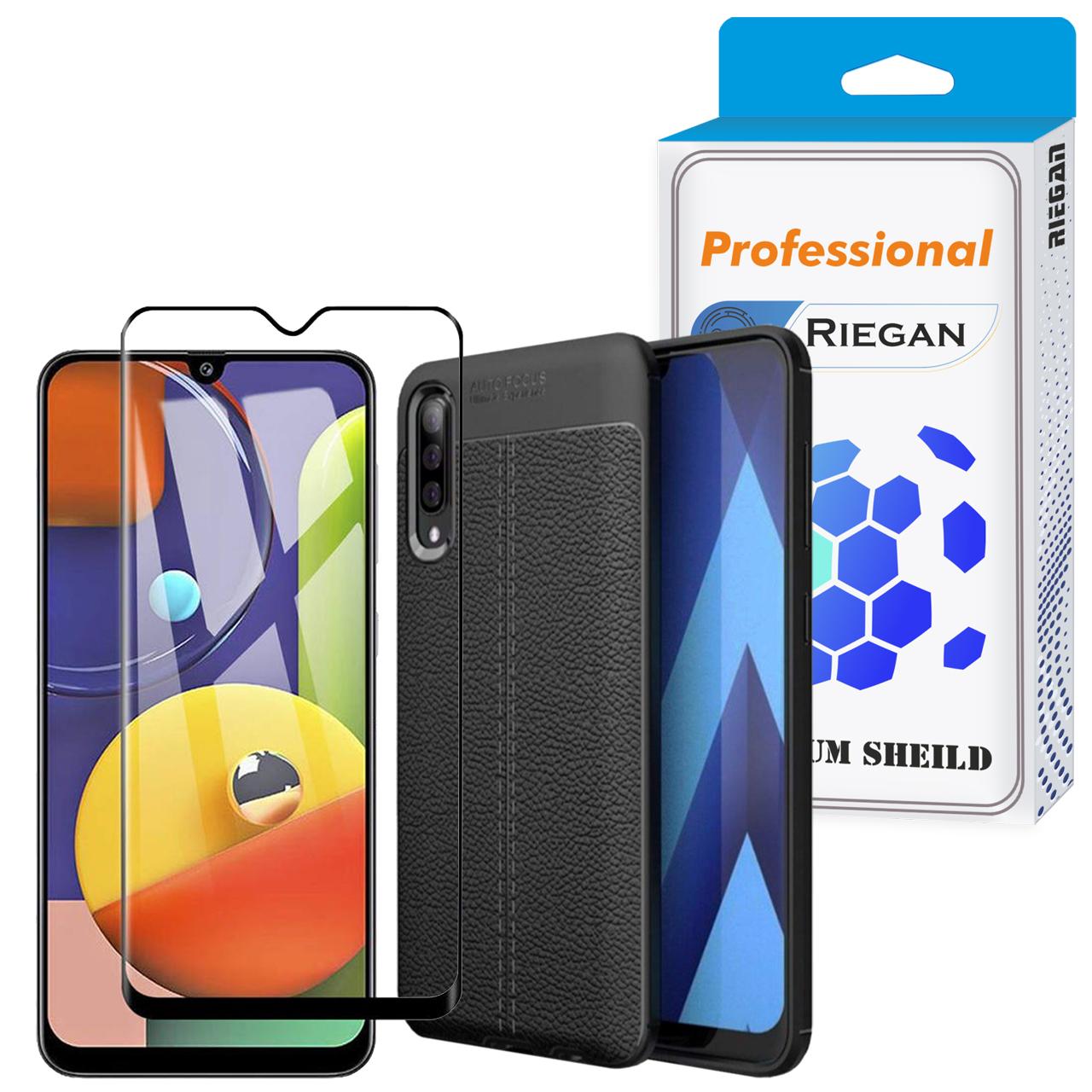 کاور ری گان مدل AF500 مناسب برای گوشی موبایل سامسونگ Galaxy A50 به همراه محافظ صفحه نمایش