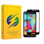 محافظ صفحه نمایش شیشه ای فلش مدل +HD مناسب برای گوشی موبایل سامسونگ Galaxy A2 Core