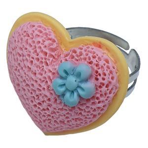 انگشتر دخترانه مدل قلب کد 008