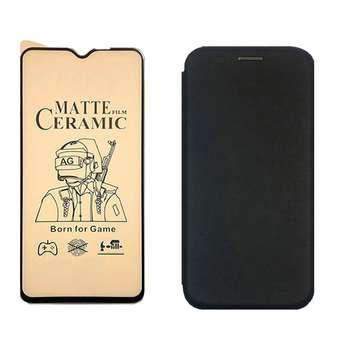 کیف کلاسوری آواتار مدل KMA20_CGM_1 مناسب برای گوشی موبایل سامسونگ Galaxy A20/A30 به همراه محافظ صفحه نمایش مات