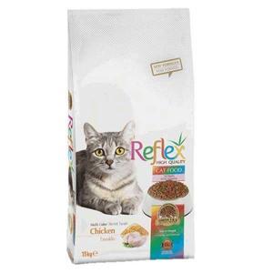 غذای خشک گربه رفلکس مدل chicken وزن 15 کیلوگرم