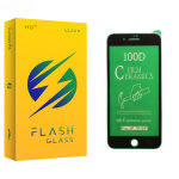 محافظ صفحه نمایش سرامیکی فلش مدل +HD مناسب برای گوشی موبایل اپل iPhone 8 Plus