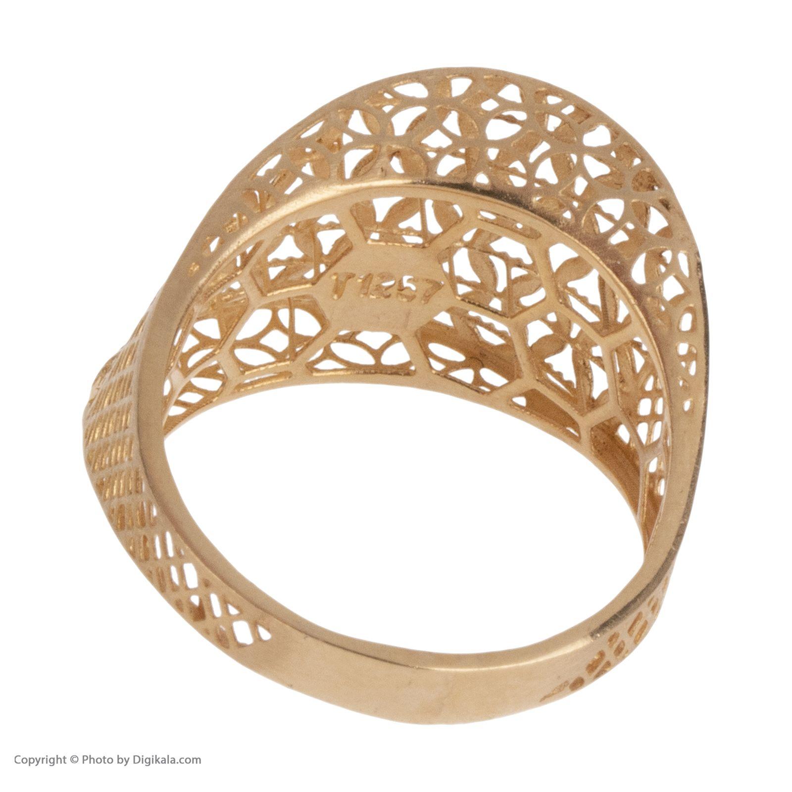 انگشتر طلا 18 عیار زنانه مایا ماهک مدل MR0380 -  - 5